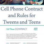 Cell Phone Rules and Contract for Tweens and Teens