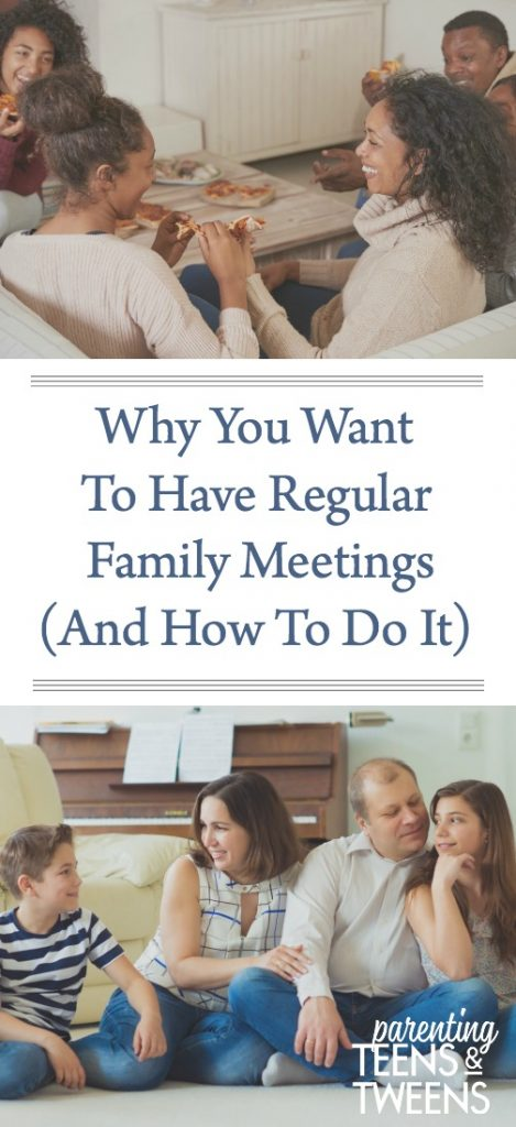 Why You Want To Have Regular Family Meetings (And How To Do It)