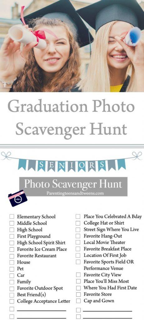 Graduation Photo Scavenger Hunt