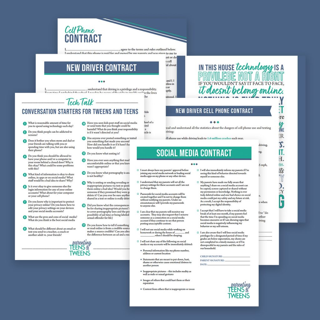 Teen Technology Management Printables