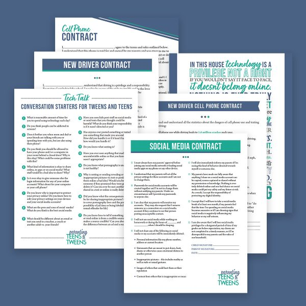 Teen Technology Management Printables