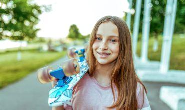 teen girl skateboard